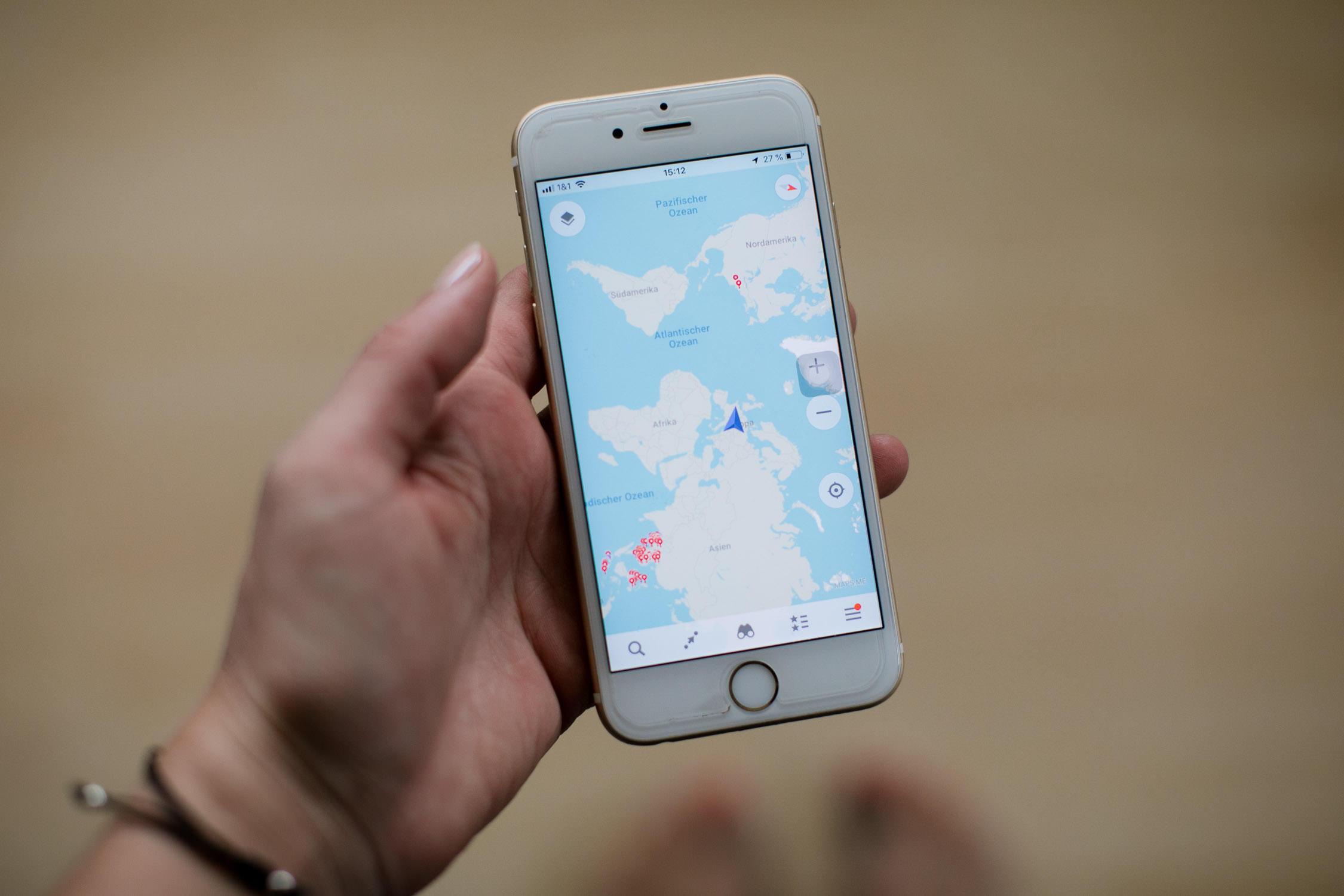 Maps.me Reiseapp
