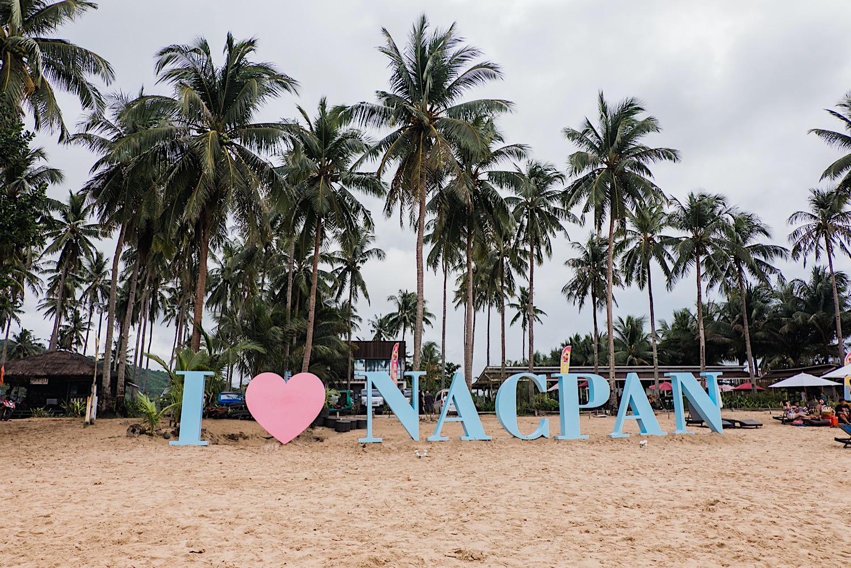 Nacpan Beach auf den Philippinen