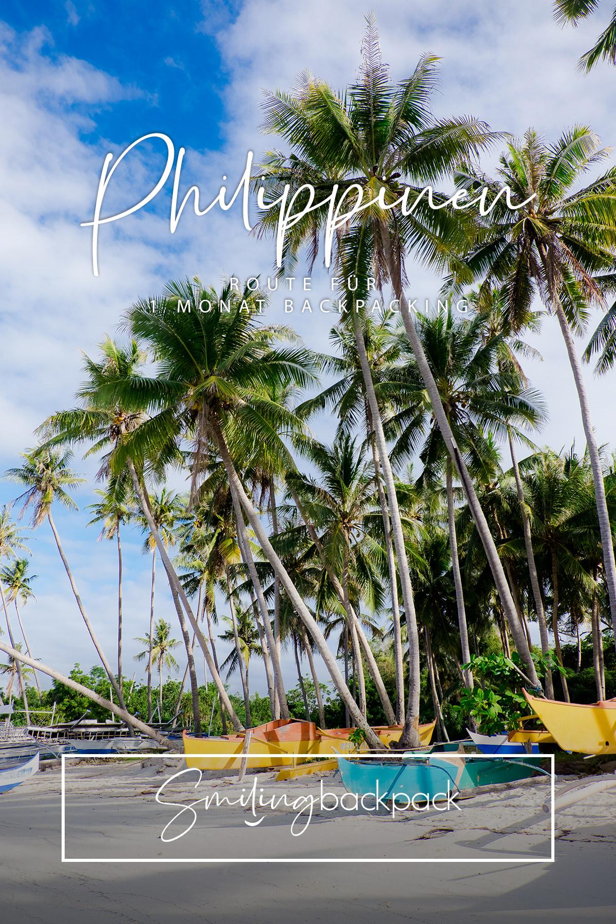 Route für 1 Monat Backpacking auf den Philippinen