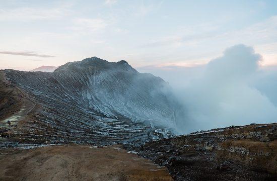 Der Vulkan Ijen auf Java