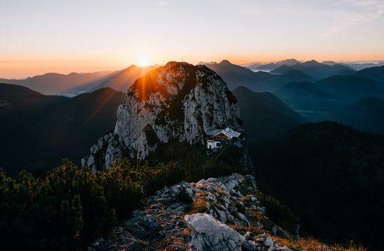 Wandern zur Tegernseer Hütte zum Sonnenaufgang